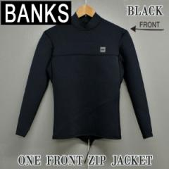 BANKS/バンクス ONE FRONT ZIP JACKET タッパ BLK 2018 ウェットスーツ サーフィン 送料無料 男性用