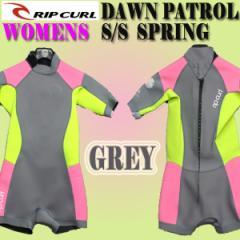 レディース用リップカール WOMENS DAWNPATROL ウェットスーツ BACK ZIP 2/2 スプリング GREY【送料無料】新作 女性用【サーフィン】