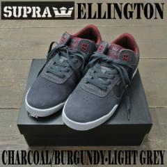 SUPRA/スープラ ELLINGTON CHARCOAL/BURGUNDY 靴 スケートボードシューズ スニーカー