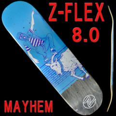 Z-FLEX/ジーフレックス スケートボードデッキ MAYHEM 8.0 DECK スケボーSK8