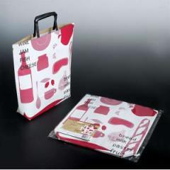 紙袋 トートタイプ(縦32.5×横32×マチ8cm) マルシェ柄 5枚入