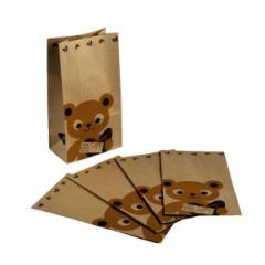 ラッピング 紙袋 ベア柄 15×28×9cm 5枚入