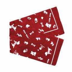 バンダナ 犬柄 赤色 54×54cm