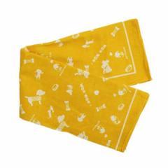 バンダナ 犬柄 黄色 54×54cm