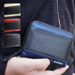 二つ折り財布 財布 二つ折り メンズ ラウンドファスナー ツートンカラー mobac