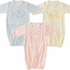 生まれたてBABYへ新生児ツーウェイオールパイル【うさぎ/ゾウ/ひよこ】/赤ちゃん ベビー ベビーサイズ ベビー服 新生児 男の子 女の子 保