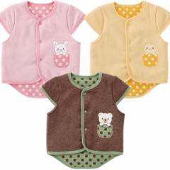 水玉アニマル袖付きベスト/赤ちゃん ベビー ベビーサイズ ベビー服 新生児 男の子 女の子 保育園