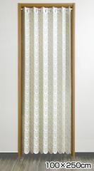 間仕切り パタパタ カーテン 100×250cm 白 ホワイト カフェカーテン TG