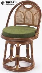 東京ラタン 天然籐 籐製 回転チェア 座椅子 ハイタイプ アジアン