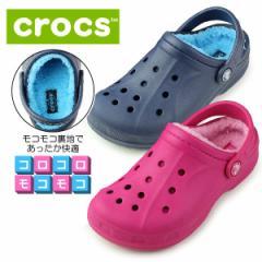 クロックス crocs キッズ ウィンタークロッグ ファー ボア winter clog K 203874 サンダル ネイビー ピンク ブルー