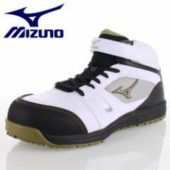 ミズノ mizuno WORKING ALMIGHTY C1GA160201 ホワイト メンズ オールマイティ ミッドカットタイプ 安全靴 3E