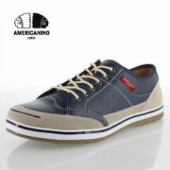 【還元祭クーポン対象】アメリカニーノ エドウィン AMERICANINO EDWIN AE827 ネイビー カジュアルシューズ スニーカー 軽量 メンズ 靴 レ
