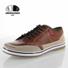 【還元祭クーポン対象】アメリカニーノ エドウィン AMERICANINO EDWIN AE827 ブラウン カジュアルシューズ スニーカー 軽量 メンズ 靴 レ