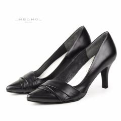 MELMO 靴 メルモ パンプス 7294 ブラック フォーマル ゆったり2E 入学式 入園式 卒業式 卒園式