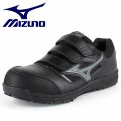 【還元祭クーポン対象】MIZUNO ミズノ オールマイティ ベルトタイプ C1GA160109 ブラック×ダークグレイ ワーキング スニーカー 安全靴