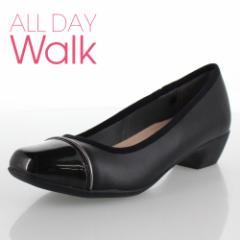【還元祭クーポン対象】ALL DAY Walk オールデイウォーク 靴 680 パンプス 2E 幅広 ベネトン アキレス 068 黒 ブラック レディース スク