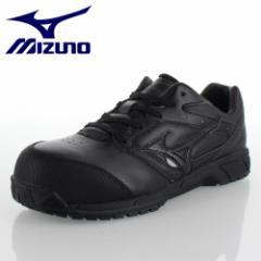 ミズノ MIZUNO オールマイティCS 紐タイプ C1GA171009 ブラック ワーキング スニーカー 安全靴 作業靴 レディース 3E