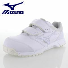 ミズノ MIZUNO オールマイティCS ベルトタイプ C1GA171101 ホワイト ワーキング スニーカー 安全靴 作業靴 レディース 3E
