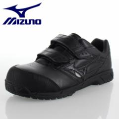 ミズノ MIZUNO オールマイティCS ベルトタイプ C1GA171109 ブラック ワーキング スニーカー 安全靴 作業靴 レディース 3E