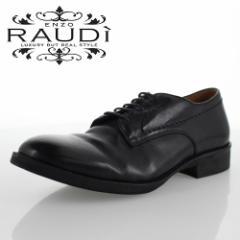 【BIGSALEクーポン対象】 RAUDI ラウディ R-82105 BLACK ブラック メンズ 靴 本革 カジュアルシューズ 外羽根 プレーントゥ