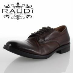 【BIGSALEクーポン対象】 RAUDI ラウディ R-82105 DK BROWN ダークブラウン メンズ 靴 本革 カジュアルシューズ 外羽根 プレーントゥ