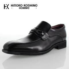 【BIGSALEクーポン対象】 ヒロココシノ オム HIROKO KOSHINO HOMME HK4557 ブラック メンズ 靴 ビジネスシューズ スリッポン ビット ロー