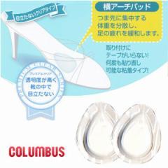 横アーチパッド コロンブス COLUMBUS 女性用 レディース 中敷き インソール 靴 フットソリューション 透明 クリア 80590
