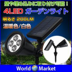 LEDガーデンライト ソーラースポットライト ソーラーLED 埋め込み 高輝度LED 遊歩道◇DS-022