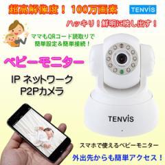 ネットワークカメラ ベビーモニター 解像度100万画素 P2P QRコード読取 スマホ簡単登録 動体検知機能付き 暗視対応 ◇TR3815-HD