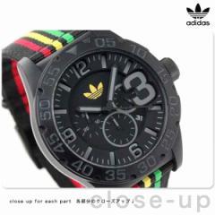 アディダス ニューバーグ クロノグラフ ADH2795 adidas 腕時計 メンズ ブラック×ラスタカラー ナイロンベルト