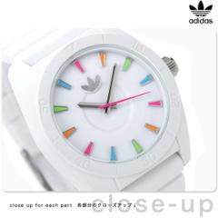 【あす着】アディダス サンディアゴ クオーツ 腕時計 ADH2915 adidas ホワイト×マルチカラー