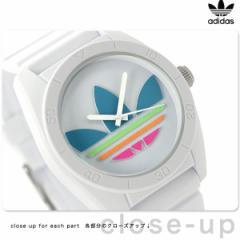 【あす着】アディダス オリジナルス サンティアゴ 腕時計 ADH2916 adidas クオーツ ホワイト×マルチカラー