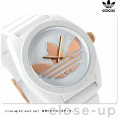 アディダス オリジナルス サンティアゴ 腕時計 ADH2918 adidas クオーツ ホワイト×ローズゴールド