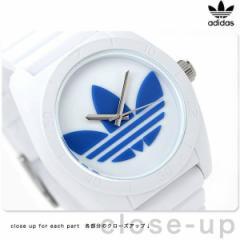 【あす着】アディダス サンティアゴ クオーツ 腕時計 ADH2921 adidas ホワイト×ブルー