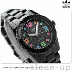 【あす着】アディダス ブリスベン ナイロン ミニ レディース 腕時計 ADH2943 adidas クオーツ オールブラック