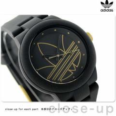 【あす着】アディダス オリジナルス アバディーン 腕時計 ADH3013 adidas クオーツ オールブラック×ゴールド