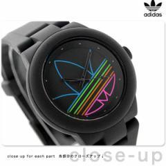 アディダス オリジナルス アバディーン 腕時計 ADH3014 adidas クオーツ オールブラック×マルチカラー