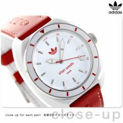 【あす着】アディダス オリジナルス スタン スミス クオーツ 腕時計 ADH9088 adidas ホワイト×レッド
