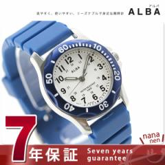 セイコー アルバ スポーツ クオーツ レディース 腕時計 AQQS006 SEIKO ALBA ホワイト×ブルー