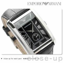 エンポリオ アルマーニ クラシック 腕時計 メンズ スモールセコンド ブラック レザーベルト EMPORIO ARMANI AR1604
