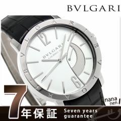 ブルガリ BVLGARI ブルガリブルガリ 43mm 手巻き メンズ BB43WSL 腕時計 ホワイト×ブラック