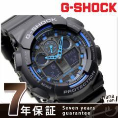 【あす着】CASIO G-SHOCK G-ショック Newコンビネーションモデル ブラック×ブルー GA-100-1A2DR