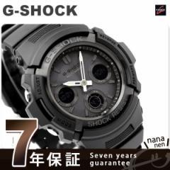【あす着】G-SHOCK G-ショック 電波 ソーラー アナデジ オールブラック AWG-M100B-1ACR