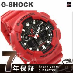 【あす着】CASIO G-SHOCK G-ショック コンビネーションモデル ブラック×レッド GA-100B-4ADR