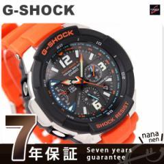 【あす着】ジーショック G-SHOCK CASIO 腕時計 SKY COCKPIT スカイコクピット ソーラー 電波 アナログ ブラック×オレンジ GW-3000M-4AER