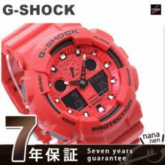 Gショック 腕時計 メンズ レッド CASIO G-SHOCK GA-100C-4AJF