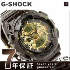 Gショック カシオ 腕時計 メンズ ガリッシュゴールドシリーズ ゴールド×ダークブラウン CASIO G-SHOCK GA-110BR-5ADR