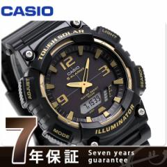 【あす着】カシオ チプカシ 海外モデル ソーラー メンズ 腕時計 AQ-S810W-1A3VCF CASIO オールブラック