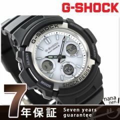 【あす着】G-SHOCK 電波ソーラー AWG-M100S-7AER カシオ Gショック メンズ 腕時計 ブラック×ホワイト