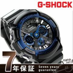【あす着】G-SHOCK クオーツ メンズ 腕時計 GA-200CB-1ADR カシオ Gショック オールブラック×ブルー